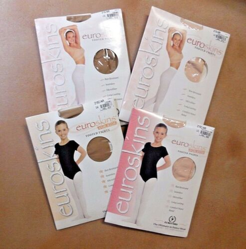 Eurotard Euroskins Footed Tights Child Adult Th. Pink or Caramel 215C 215