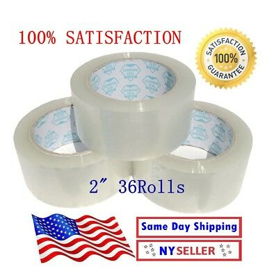 Tape Clear Packaging Shipping Tape 2-inches X 110 Yds Pack Of 36