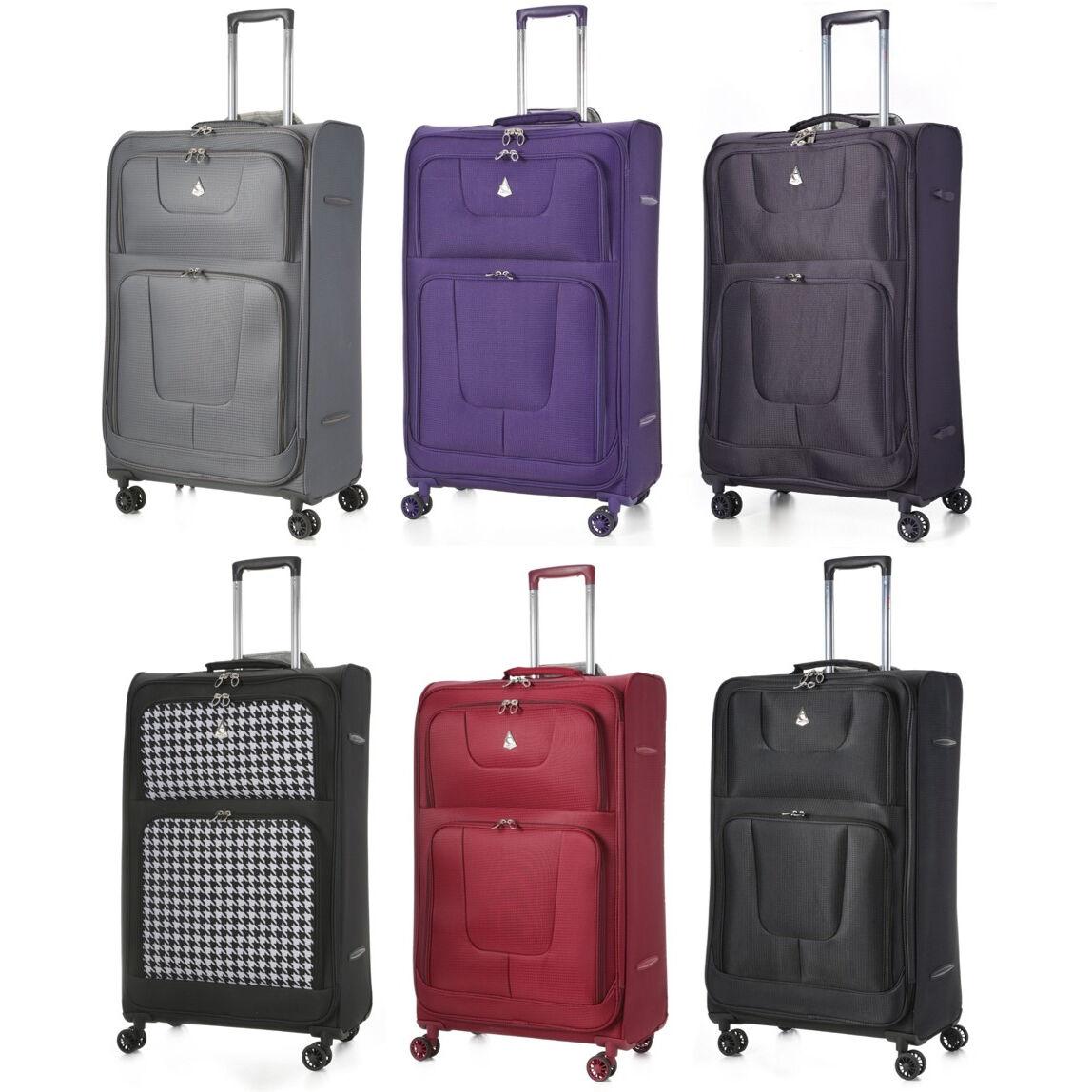 clearance aerolite lightweight 8 wheel suitcase hand cabin. Black Bedroom Furniture Sets. Home Design Ideas