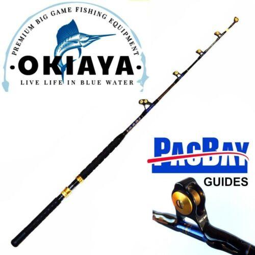 OKIAYA STANDUP TROLLING RODS 80-130LB VENOM-PRO CARBON BLANK/PAC BAY GUIDES
