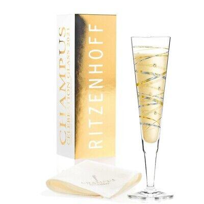 2er Set Ritzenhoff CHAMPUS Jahrgangs Champagnergläser 2021