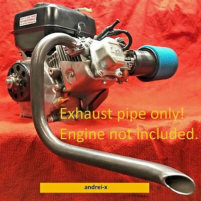 Mini Bike custom Exhaust Header Pipe for Predator 212cc & Honda GX200.
