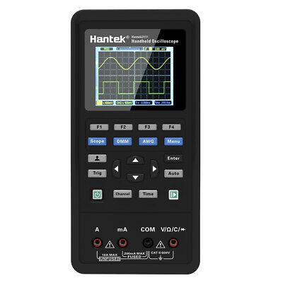 Handheld Oscilloscope 2ch 40mhz 250msas Type C Multimeter 2in1 Hantek 2c42