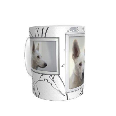 Weißer Schäferhund - Keramiktasse - Kaffeetasse - Hund - Dog-Funtasse