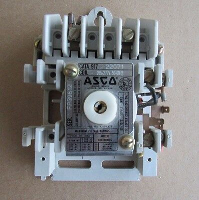 Asco Lighting Contactor Cn 917 22071 Coil 265-277v 20amp Automatic Switch Co Qd