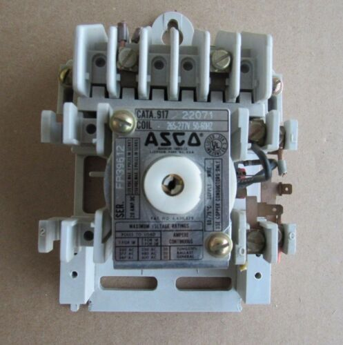 ASCO LIGHTING CONTACTOR C/N 917 22071 COIL 265-277V 20AMP AUTOMATIC SWITCH CO QD