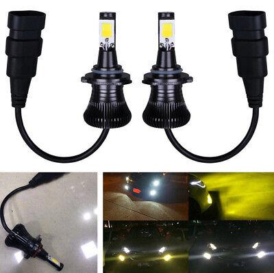 2Pcs 24W LED Fog Driving Light Bulb Super Bright Dual Color White Yellow 2800LM