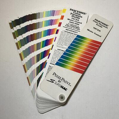 Pantone Color Formula Guide 747xr Matte Coated 1988-1989 Pixel Paint S Supermac
