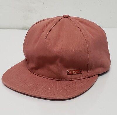 - Supreme Box Logo Hat Rose LEATHER STRAP