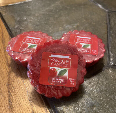 NEW!!! Yankee Candle Cherries On Snow Tarts - Set of 3