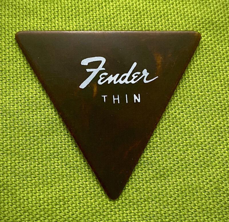 Vintage 1960s Pre CBS Fender Guitar Pick Triangle thin RARE