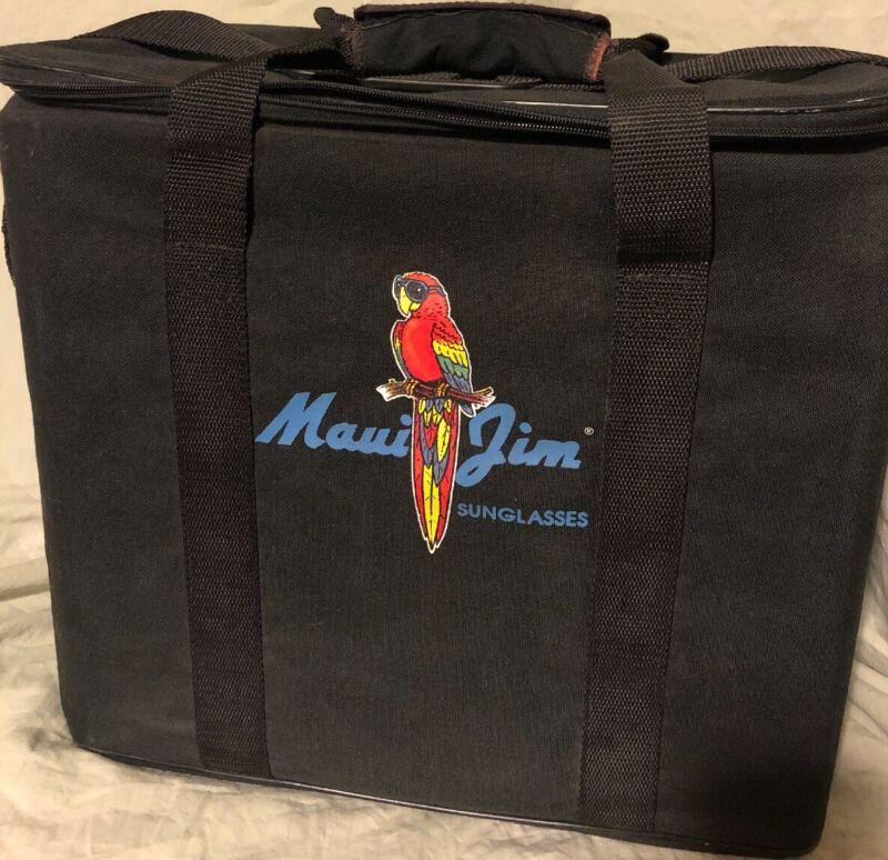 Maui Jim Sunglasses Eyeglasses Display Case Sample Box Travel Trolley Holds 54