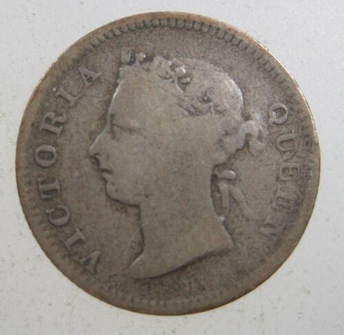 MAURITIUS 10 CENT 1889 SILVER BRITISH VICTORIA AFRICA SCARCE 20# MONEY COIN