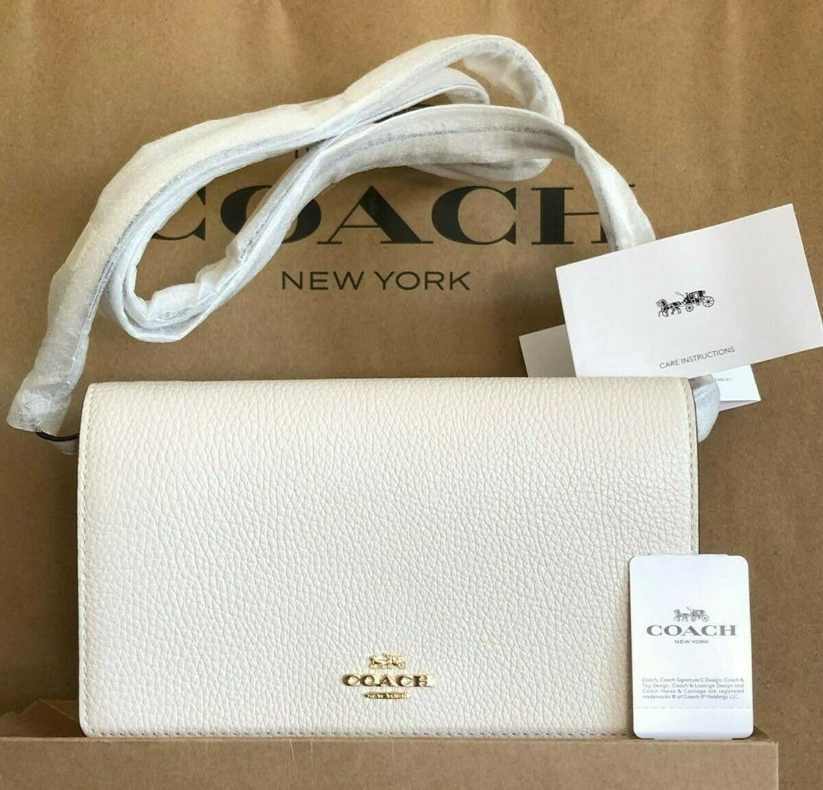 NWT Coach Hayden Leather Foldover Crossbody Clutch Bag F3025