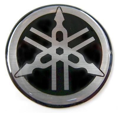 ORIGINAL Yamaha- 5,5cm  -EMBLEM -Aufkleber-S/SILBER-Emblème-Emblema-55mm LOGO