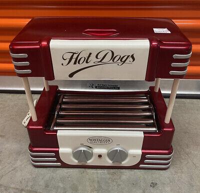 Hot Dog Roller Bun Warmer Machine Nostalgia Adjustable Heat Cooker Grill Boar