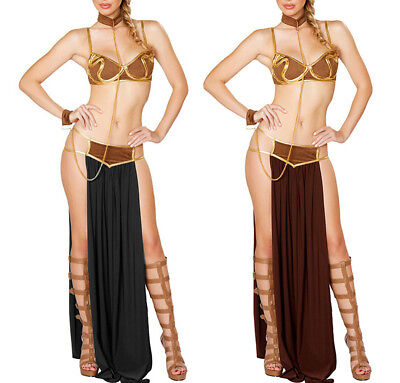 Slave Princess Halloween Costume (Women Sexy Star Wars Slave Princess Leia Costume Halloween Cosplay Fancy)