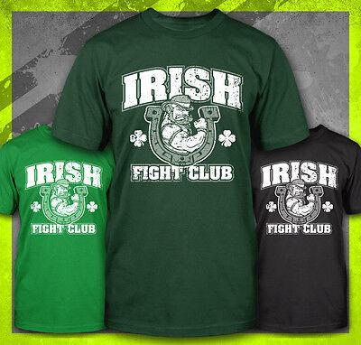 Irish Fight Club Mma Boxing Funny St Patricks Day Drinking Green T Shirt Tee