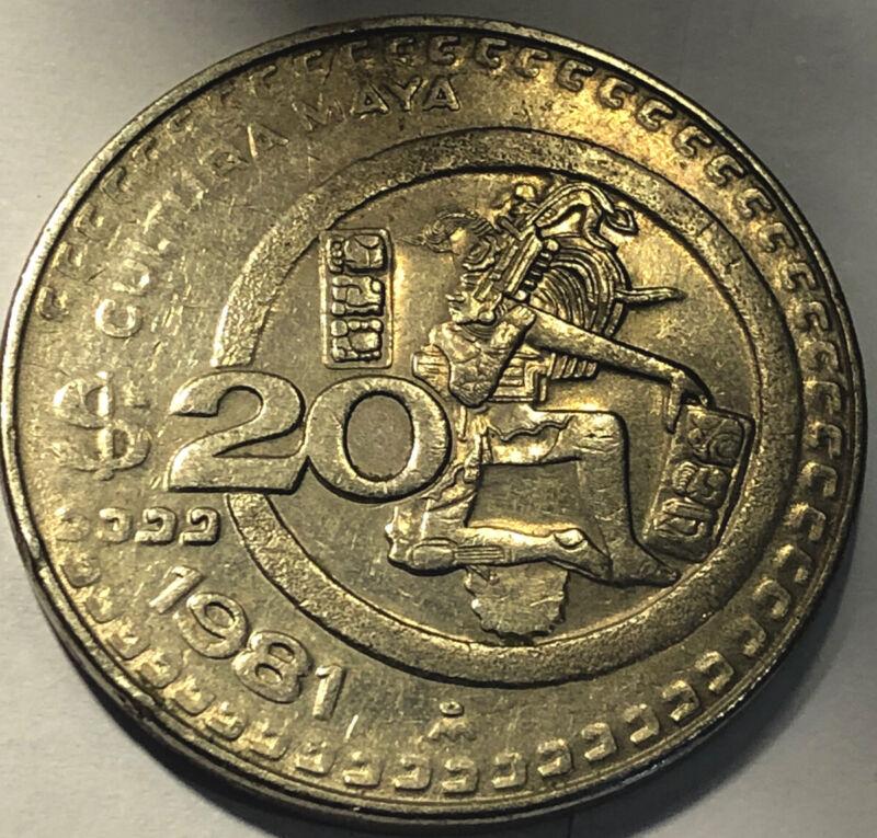 1981 Mixico 20 Pesos Coins