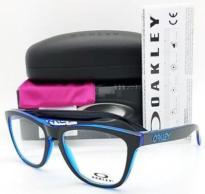 NEW Oakley Frogskins RX Prescription Frame Eclipse Blue /Black OX8131-0354 Frog (Oakley Frogskin Prescription Sunglasses)