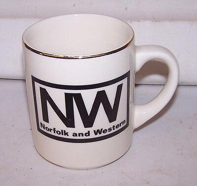 Vintage MW NORFOLK and WESTERN RR Railroad Cup Mug