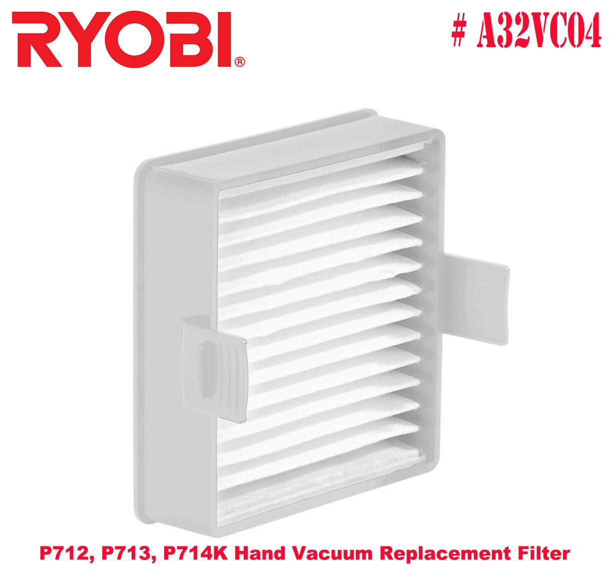Ryobi # A32VC04 Hand Vacuum Replacement Filter for Ryobi P71