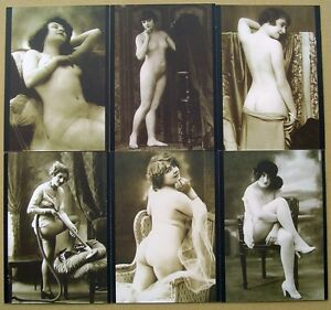 Vintage Erotica Postcards Series 1 - 36 x Trading Cards Mint Set by Cult-Stuff