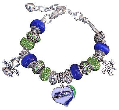 Seattle Seahawks Bracelet  Seahawks Jewelry  Seahawks Gift  Seahawks Charm