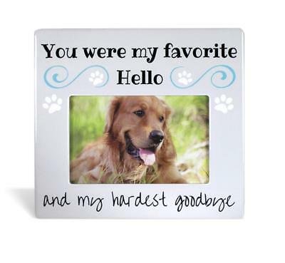BANBERRY DESIGNS Pet Memorial Picture Frame - Bereavement Photo Frame for Dog or