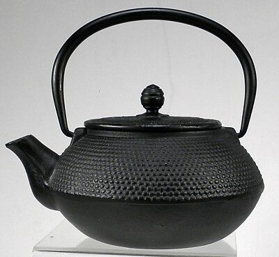 Black cast Iron Teapot classic design with strainer