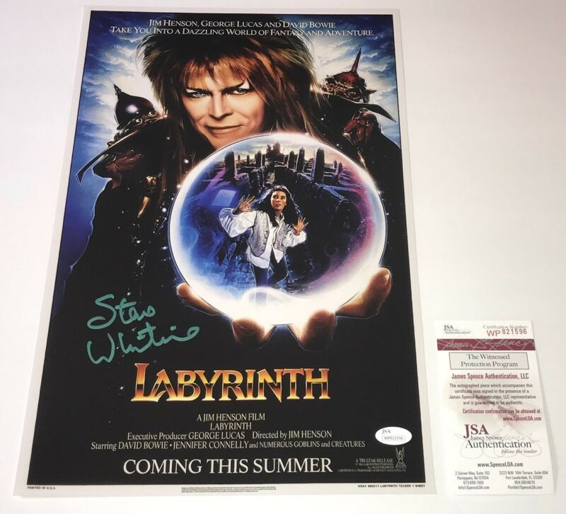 STEVE WHITMIRE Labyrinth Signed 11x17 Photo Poster In Person Autograph JSA COA
