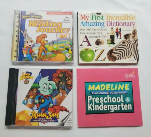 Computer Games - Preschool & Kindergarten Lot Of 4 CD - Rom Computer Games Educational Learning