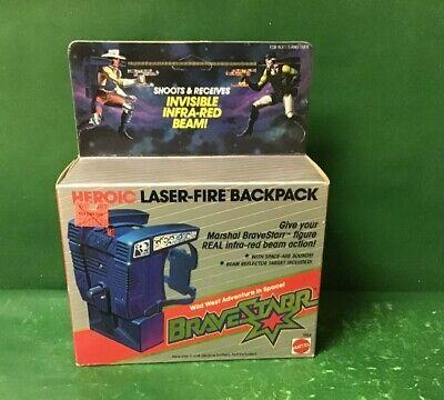 1986 HEROIC LASER-FIRE BACKBACK NIB BY MATTEL