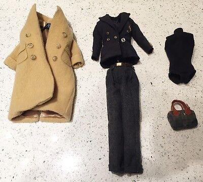 Beautiful Ralph Lauren 5 piece navy outfit fits model Muse Silkstone Barbie 1996