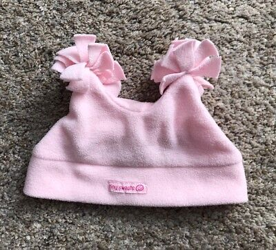 The Childrens Place Baby Girls Size 6 12 Months Pink Fleece Pom Pom Hat Cap