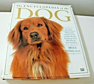 Coffee Table Book Encyclopedia Dog 400 Breeds Hard Cover 1995 Illustrated Book