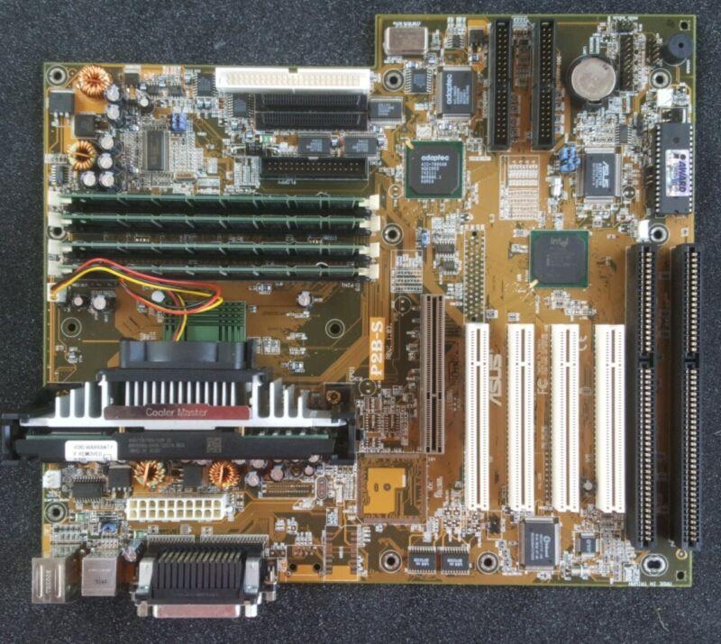 Asus Motherboard P2B-S Rev 1.03 | PII 400MHz CPU | 4x256MB