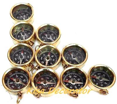 Lot of 100 Pcs Brass Compass Key Chain Marine Key Ring Bulk Wholesale Vintage