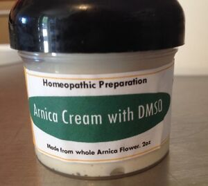 Arnica Cream with DMSO 2oz. Pure Arnica.