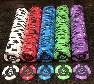 RARE New Regal Knight 11.5 Gram Clay Composite Poker Chips ( 500 Chips ) (Composite Poker)