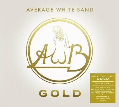 AVERAGE WHITE BAND GOLD 3 CD (Released JUNE 7th 2019) (Greatest Hits)