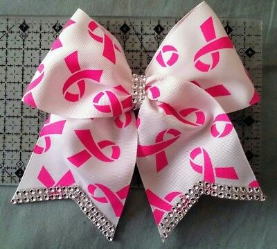 Breast Cancer Awareness Bows (Breast Cancer Awareness Bling cheer hair)