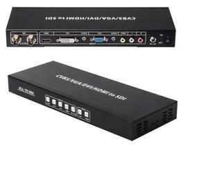 CVBS HDMI VGA DVI to SDI Converter Scaler Extender HD-SDI 3G-SDI BNC Coax 1080p