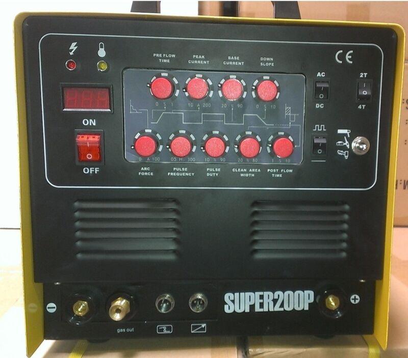 SUPER200P Plasma Cutter TIG Arc AC/DC Welder Pulse & FOOT PEDAL CAL Electric NEW
