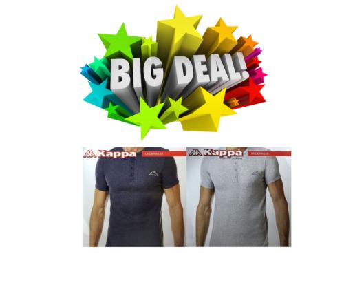 NEU Kappa Rippshirt Herren T-Shirt Unterhemd Sommershirt M L XL Poloshirt