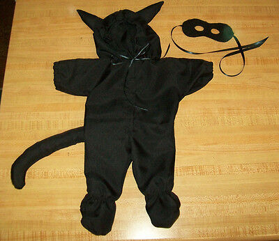 BLACK CAT/PANTHER HALLOWEEN COSTUME W/ MASK for 15-16