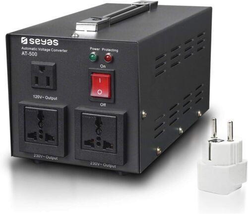 SEYAS 500W Auto Step Up & Step Down Voltage Transformer Converter NEW! FREE SHIP