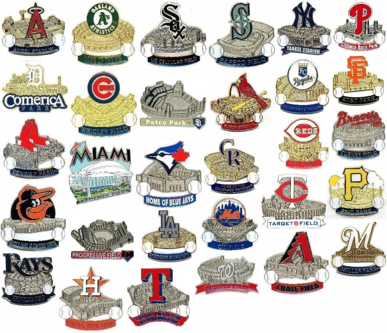 Купить Aminco - MLB Baseball Stadium Pins Your Choice of Stadiums / Ballparks New In Pkg Pin