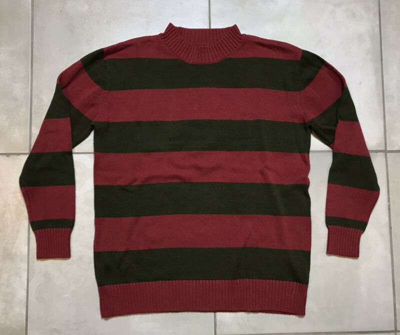 Spirit Store Freddy Krueger Halloween Costume Sweater Unisex Adult Sz M