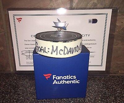 Connor McDavid Game Used 33rd Career Goal Puck MVP Season Wayne Gretzky Oilers